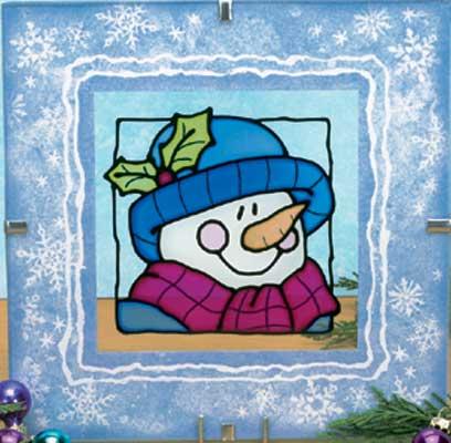 Витраж зима картинки